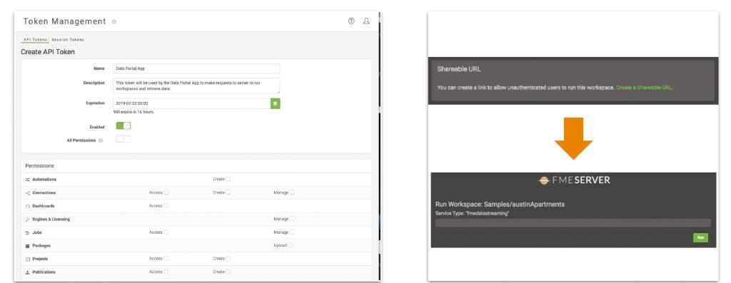FME server 2019 permet de publier une app web de vos traitements