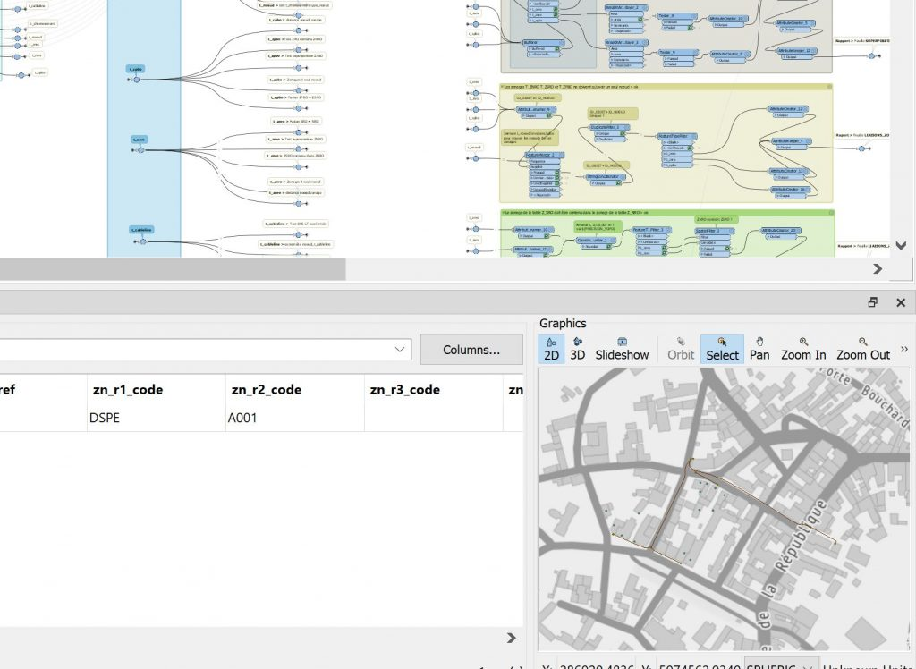 Outil de contrôle qualité sur FME permettant de vérifier les données GraceTHD v3